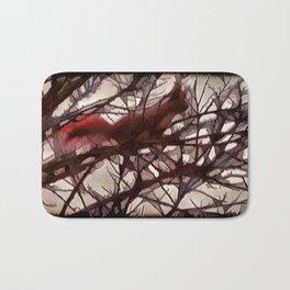 Squirrel glass IV Bath Mat