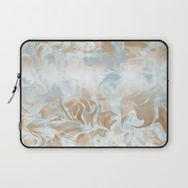 Watercolour in Blue Gold Laptop Sleeve