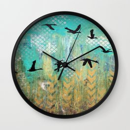 Fly for Fall Wall Clock