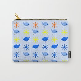 Blue Birds Yellow Stars Pattern Carry-All Pouch