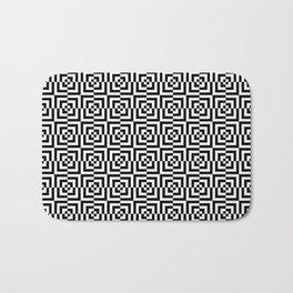 Black & White Squares Bath Mat