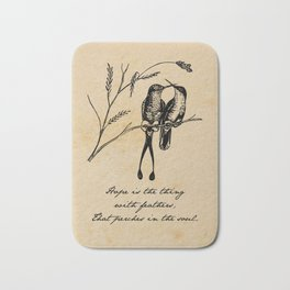 Emily Dickinson - Hope is the Thing with Feathers Bath Mat
