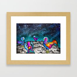 Space Chickens Framed Art Print