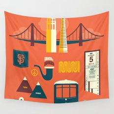 Sanfrancisco Wall Tapestry