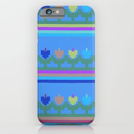 Childish Embroidered Flowers iPhone Case