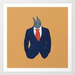 Average Businessman Art Print