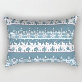 Retro .Christmas . Rectangular Pillow