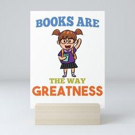 Book Books Library Nerd School Mini Art Print