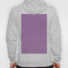 Purple Gingham Checkered Pattern Hoody