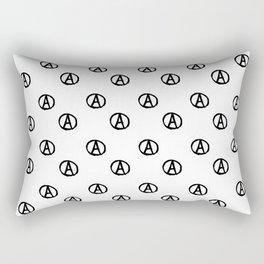 Symbol of anarchy bw 2 Rectangular Pillow