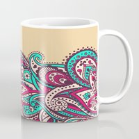 paisley Mugs featuring Paisley by Cultivate Bohemia
