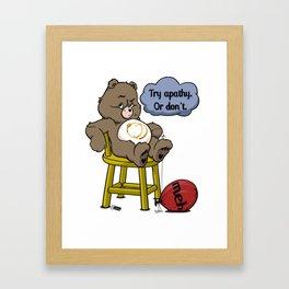 Apathy Bear Framed Art Print