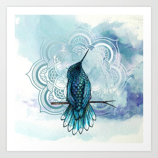 aquarela hummingbird art print by vivinicolin society6
