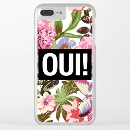 OUI Clear iPhone Case