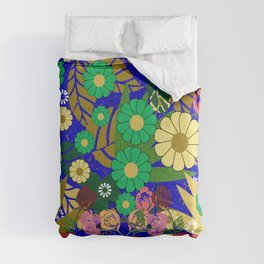 abstract art of the  roses and flowering plant  Comforters