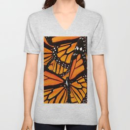 MONARCH BUTTERFLIES WING COLLAGE PATTERN 2 Unisex V-Neck