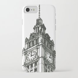 Triptych 1 - Wrigley Building - Original Drawing iPhone Case