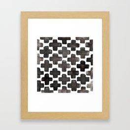 Black & White Crosses - Katrina Niswander Framed Art Print