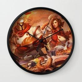 Baker Pantheon Sashimi Akali Barbecue Leona Butcher Olaf Wall Clock