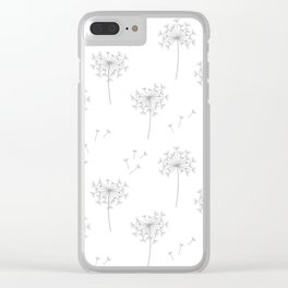 Dandelions in Grey Clear iPhone Case