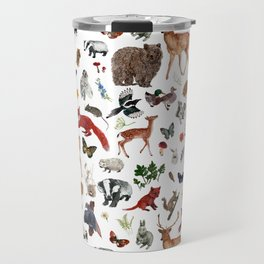 Wild Woodland Animals Travel Mug