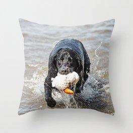 Black Labrador Retriever 2 Throw Pillow