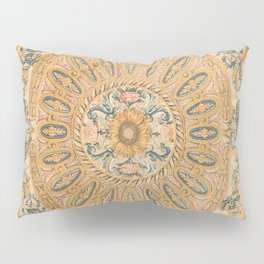 Louvre Fame Carpet // 16th Century Sunflower Yellow Blue Gold Colorful Ornate Accent Rug Pattern Pillow Sham