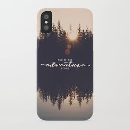 And So the Adventure Begins II iPhone Case