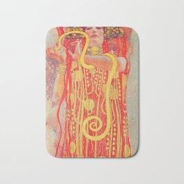 Gustav Klimt - Greek Goddess of Medicine Hygeia Bath Mat