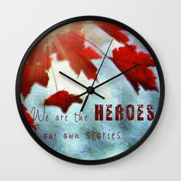Leaves of Red Wall Clock
