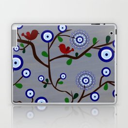 Lucky Evil Eye Bird Tree Laptop & iPad Skin