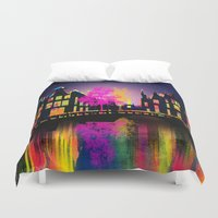 amsterdam Duvet Covers featuring Amsterdam  by mark ashkenazi