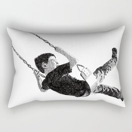 Boy in Swing Rectangular Pillow