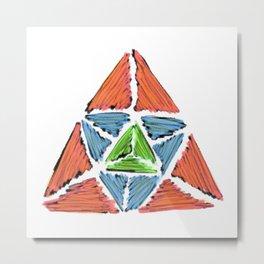3 Elements In Balance Metal Print