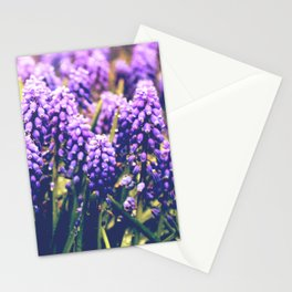 Vintage purple flowers Stationery Cards