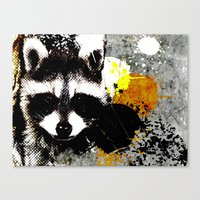 racoon Canvas Prints featuring Racoon by oji daimler