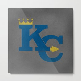 Kansas City Sports Blue Metal Print