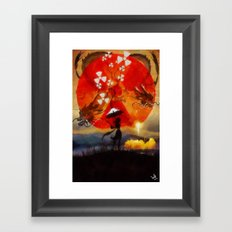 umbrellaliensunshine: SpaceX dragon launch Framed Art Print