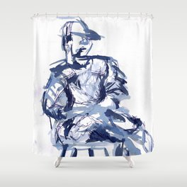 cross you're legs and wait. with Jun Shower Curtain