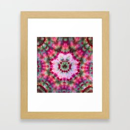 Summer Tie Dye Starburst Framed Art Print