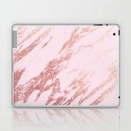 Pastel pink rose gold Laptop & iPad Skin