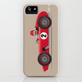 Retro Racing Car Red iPhone Case