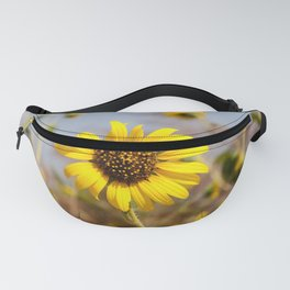 Sunflower - Bright Wildflower on a Summer Day Fanny Pack