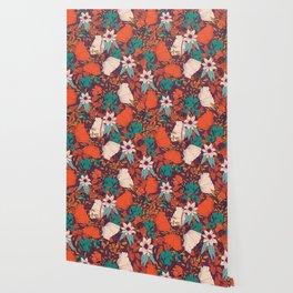 Botanical pattern 010 Wallpaper