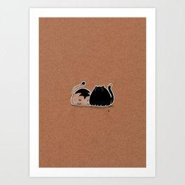 Round Cats Art Print