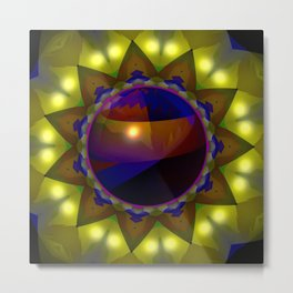 Bowl in the hole ... Metal Print