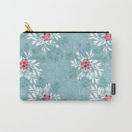 Christmas Floral and Berries Carry-All Pouch