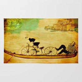The gondola bicycle ( per Luca ) Rug