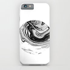 Chi - abstract minimal black and white modern art painting swirl marble pattern waves water iPhone 6s Slim Case