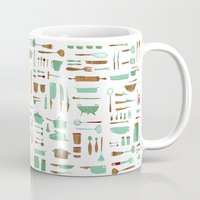kitchen Mugs featuring Kitchen by Mathilde Ruau